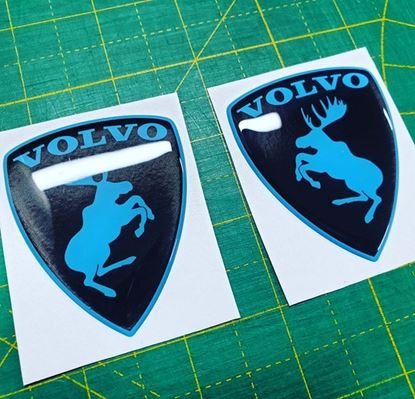 Picture of Volvo Prancing Moose  Wing / Fender Gel Badges
