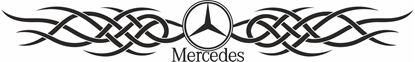 Picture of Mercedes windscreen / Panel  Decal / Sticker