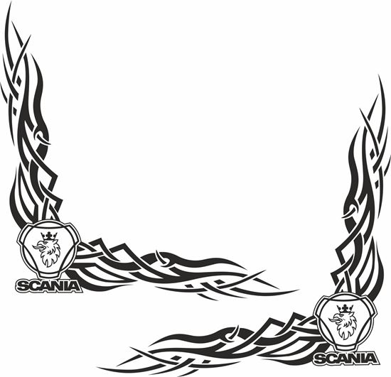 Picture of Scania Griffin corner glass Decals / Stickers