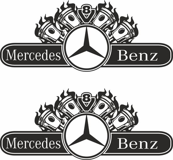 Picture of Mercedes Actros V8 general Panel  Decals / Sticker
