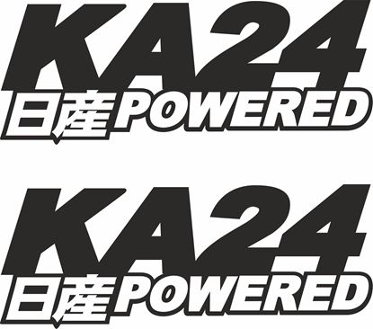 "Picture of Nissan ""KA24 Powered""panel / Glass Decals / Stickers"