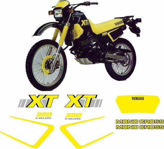 Picture of Yamaha XT350 1988 - 1990 Replacement Decals / Stickers
