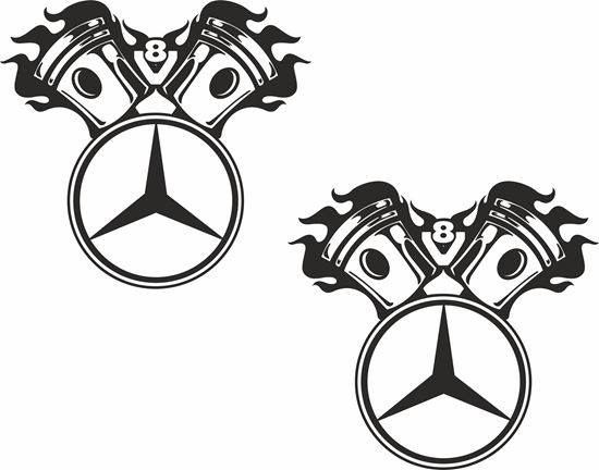 Picture of Mercedes  V8  general Panel Decals / Sticker