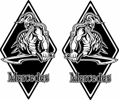 Picture of Mercedes  front corner / General Panel  Decals / Stickers