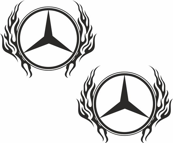 Picture of Mercedes general Panel  Decals / Sticker