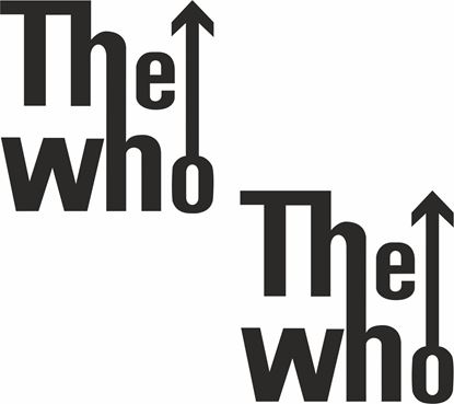 "Picture of ""The Who"" General Panel Decals / Stickers"