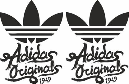"Picture of Lambretta / Vespa  ""adidas Originals 1949"" General Panel Decals / Stickers"