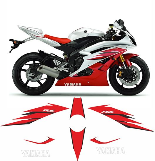 Picture of Yamaha YZF R6 2006 - 2007 Replacement Decals / Stickers
