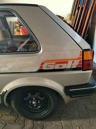 """Picture of VW MK2 Golf side stripes & rear quarter """"Golf"""" Decals / Stickers"""