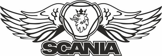 """Picture of """"Scania"""" windscreen / Panel  Decal / Sticker"""