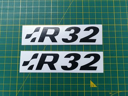 "Picture of Golf MK4 ""R32""  Front & Rear Badge overlay Decals / Stickers"