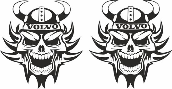 Picture of Volvo  Swedish Skull panel  Stickers / Decals