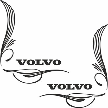 Picture of Volvo corner Glass scroll Decals / Stickers