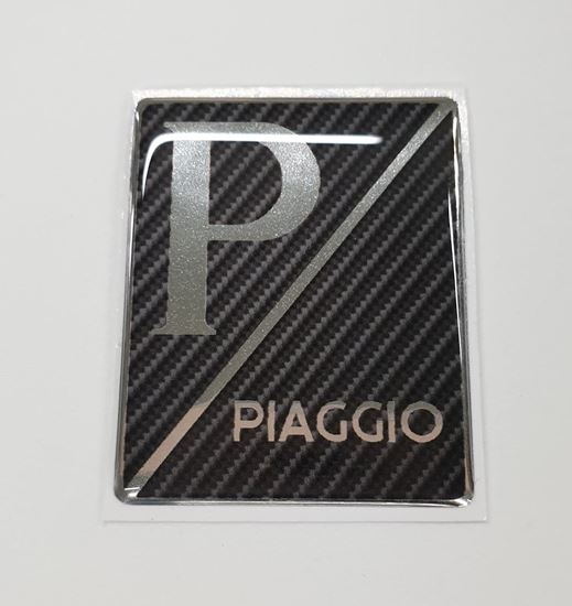"Picture of Vespa ""Piaggio"" front Fairing Horncast insert for Badge Holder"