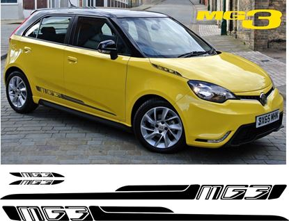 Picture of MG MG3 VTi  replacement Side Stripes - 140cm x 6.5cm