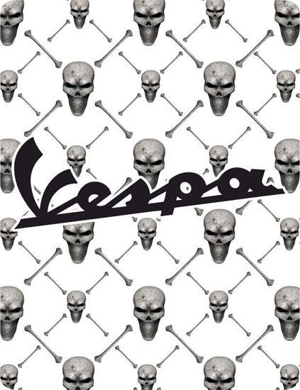 Picture of Vespa Skulls front Fairing Horncast insert for Badge Holder