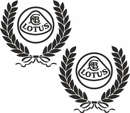 Picture of Lotus Wreath Decals / Stickers
