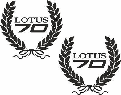 Picture of Lotus 70 Wreath Decals / Stickers