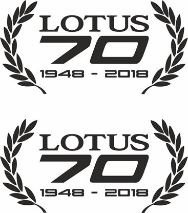Picture of Lotus 70 1948 - 2018 Wreath Decals / Stickers