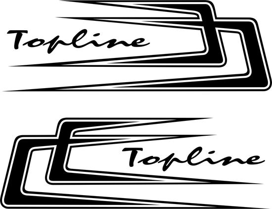 Picture of Scania Topline Top side Boomerang  top side Decals / Stickers