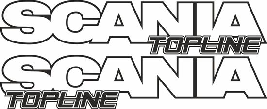 Picture of Scania  topline Decals / Stickers