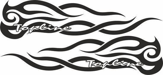 Picture of Scania  Topline  side Tribal Glass / Panel Decals / Stickers