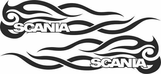 Picture of Scania  side Tribal Glass / Panel Decals / Stickers