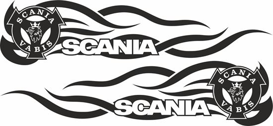 Picture of Scania Vabis side Tribal Glass / Panel Decals / Stickers