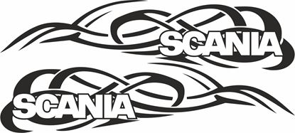 Picture of Scania  side Tribal Glass / Panel Decals / Stickers - copy