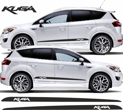 """Picture of Ford Kuga Custom Design """"Kuga"""" side Stripes / Stickers"""