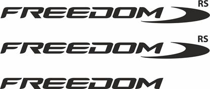 """Picture of Ford Transit Custom / Connect """"Freedom RS""""  replacement Decals / Stickers"""