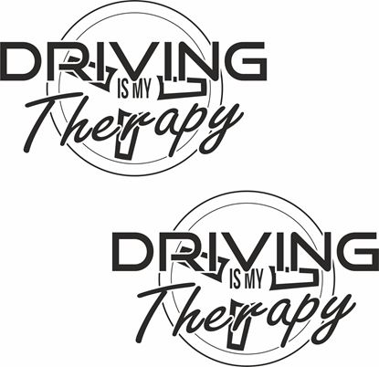 "Picture of ""Driving is my Therapy"" JDM Decals / Stickers"