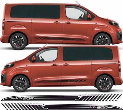 Picture of Vauxhall Vivaro Sport side Stripes / Stickers
