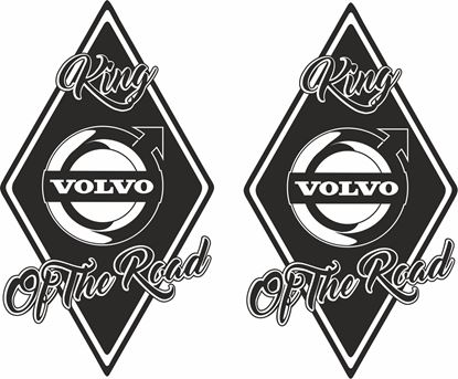 """Picture of Volvo  """"King of the Road"""" Front Corner / General Panel Stickers"""
