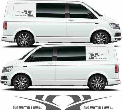 "Picture of VW Transporter ""Animal"" side panel Decals / Stickers"