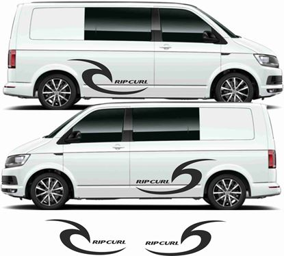 "Picture of VW  Transporter ""Rip curl"" side panel Decals / Stickers"