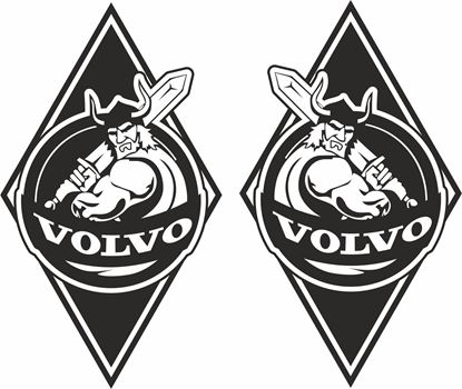 Picture of Volvo  Front Corner / General Panel Stickers