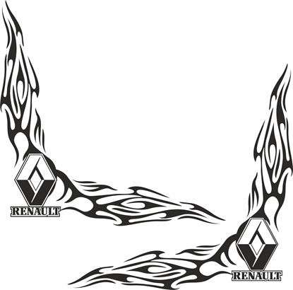 Picture of Renault  corner glass Decals / Stickers