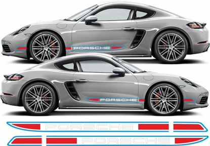 Picture of Porsche 718 Cayman Martini side Stripes / Stickers