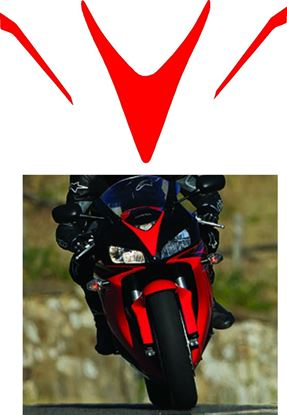 Picture of Honda CBR 1000RR Fireblade 2006-2007 NOSE CONE replacement Decals / Stickers