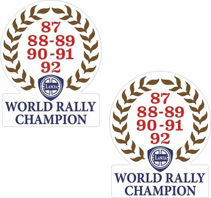 "Picture of Lancia ""World Champion"" panel Decals / Stickers"