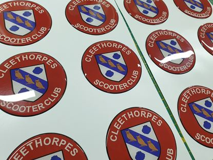Picture of Cleethorpes Scooter Club 75mm Gel Badge