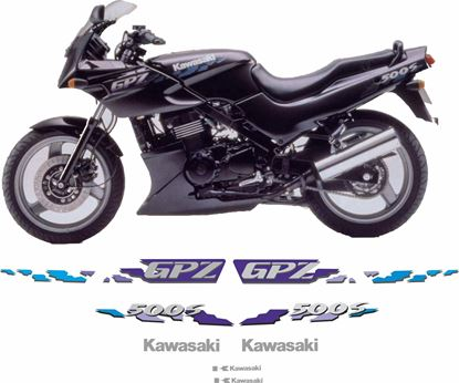 Picture of Kawasaki GPZ 500S  1994 - 1995 replacement Decals / Stickers