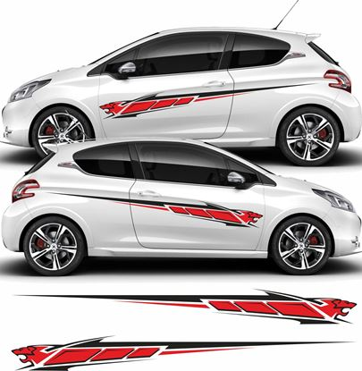 Picture of Peugeot 208 side Graphics / Stickers