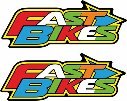 "Picture of ""Fast Bikes"" Decals / Stickers"
