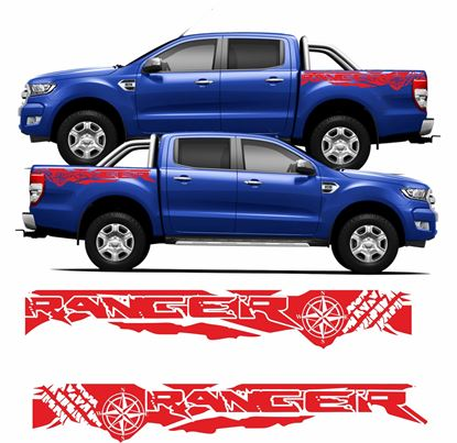 Picture of Ford Ranger side Bed Decals / Stickers