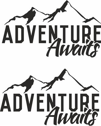Picture of Adventure Awaits Decals  / Stickers