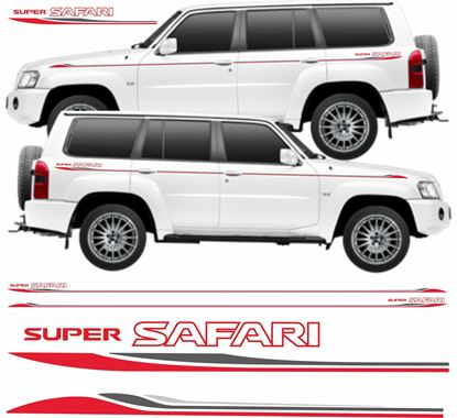 Picture of Nissan Super Safari Patrol 2006 - 2009 side Stripes / Stickers