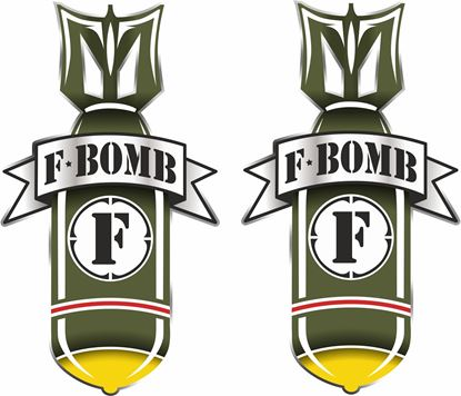 """Picture of """"F-Bomb"""" general panel  Decals / Stickers"""