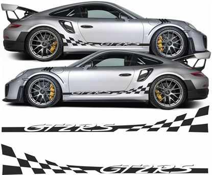 Picture of Porsche 991 GT2 RS checker side Stripes / Stickers